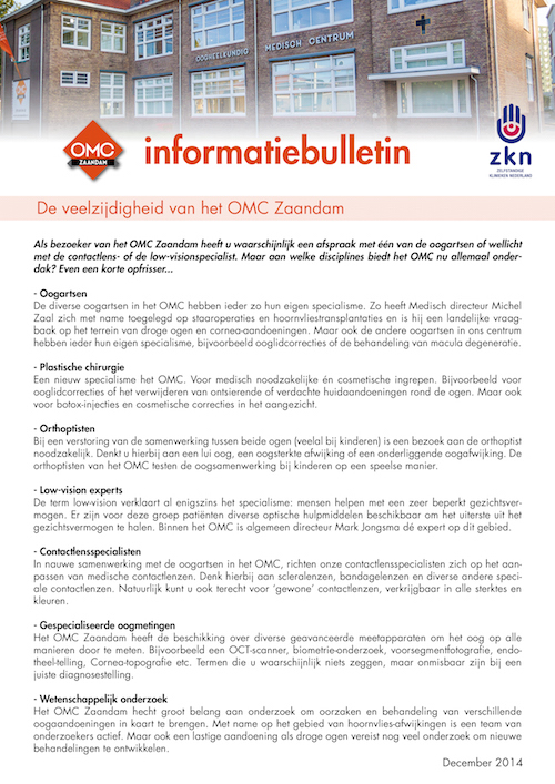 OMC infobulletin december